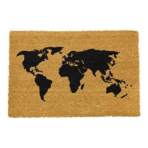 Haxo Deurmat Kokos Wereldkaart 59 x 39 cm