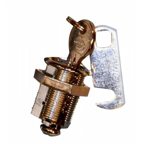 Qlinq Schroefcilinder Messing Met Sluithaak 25 mm