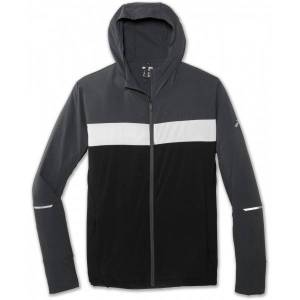 Brooks Canopy Jacket Men  - Male - Grijs - Grootte: Extra Small