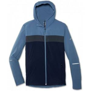 Brooks Canopy Jacket Men  - Male - Blauw - Grootte: Extra Small