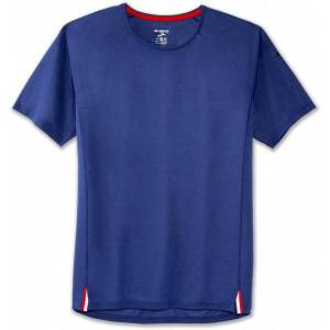 Brooks Ghost SS Shirt Men  - Male - Blauw - Grootte: Small