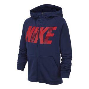 Nike Dry Hoodie jongens sportsweater  - Marine - Size: 152