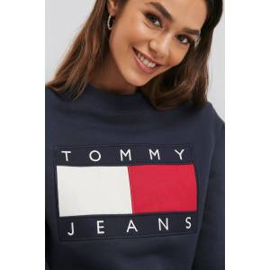 Tommy Jeans Tommy Flag Crew - Blue