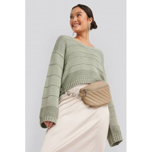 NA-KD Accessories Quilted Fanny Pack - Beige
