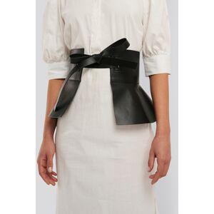 NA-KD Accessories Frill Detail Waist Belt - Black
