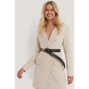 NA-KD Accessories Knotted Waist Belt - Black
