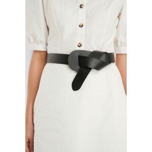 NA-KD Accessories Loop Detailed Waist Belt - Black