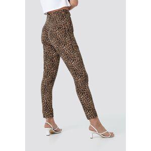 NA-KD Trend Straight Leo Pants - Multicolor