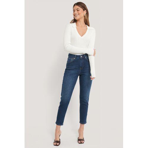 NA-KD Organisch Mom Jeans - Blue