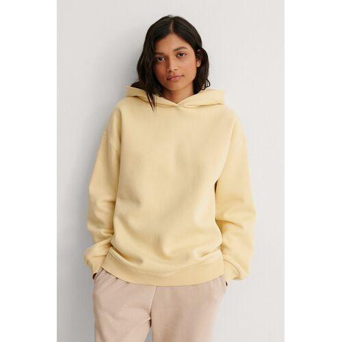 NA-KD Trend Organisch Organisch Oversized Hoodie - Yellow