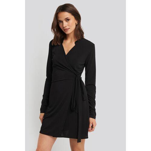Trendyol Wrap Around Mini Dress - Black