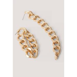 NA-KD Accessories Oorringen Met Hangende Ketting Achter - Gold