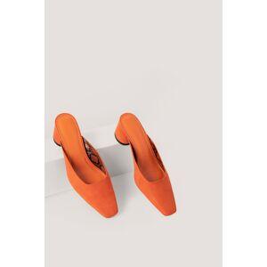 NA-KD Shoes Muiltjes - Orange