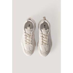 NA-KD Shoes Sneakers Met Reflecterende Details - Beige
