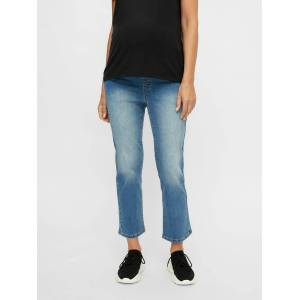 Mama Licious Zwangerschapsjeans Cropped loose fit  - Blauw - Grootte: 32