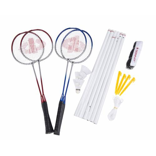Donnay Badmintonset: Net, 4 Rackets, 3 Shuttles  - No Color - Grootte: One Size