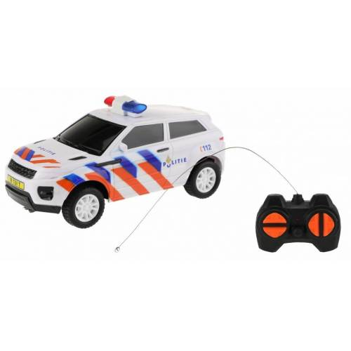 Toi-Toys bestuurbare politieauto RC 16 cm  - Wit - Grootte: One Size