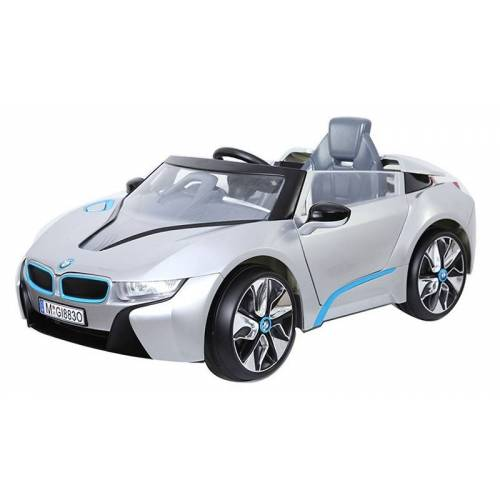 BMW i8 accuvoertuig 12V auto zilver  - Wit - Grootte: One Size