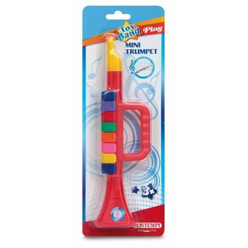 Bontempi Trompet Toy Band Rood  - Rood - Grootte: One Size