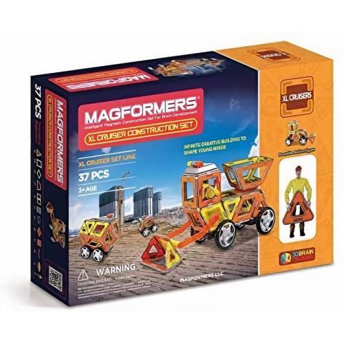 Magformers constructiespeelgoed XL Cruiser Construction  - Geel - Grootte: One Size