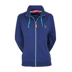 Donnay sweater met rits dames donkerblauw maat S