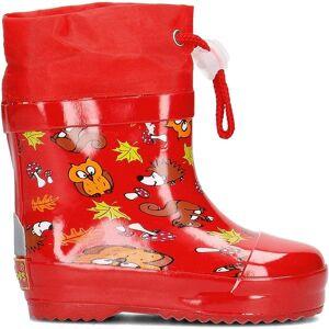 Playshoes korte regenlaarzen bosdieren rood maat 26