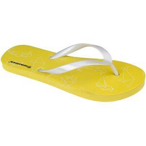 Waimea teenslippers Waikiki Beach meisjes geel/wit maat 32