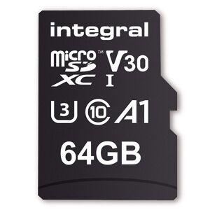 Integral 64GB V30 UltimaPro microSDXC UHS-I U3 + SD-Adapter