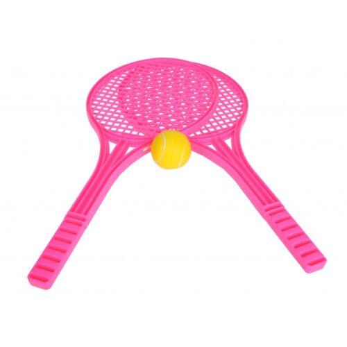 Toyrific Soft Tennisset 53 cm roze