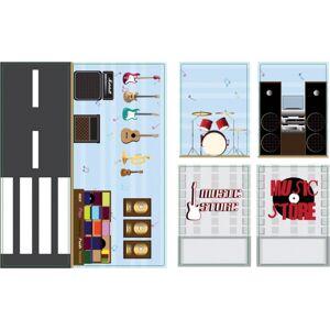 iWallz decoratiestickers Music Store 6 delig