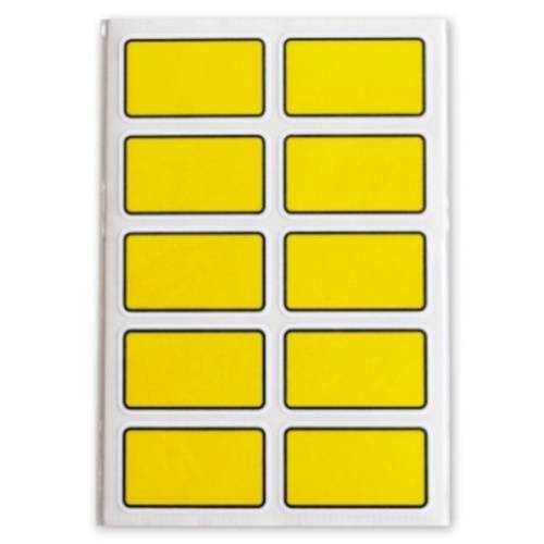Soho diepvriesetiketten 35 x 21 mm geel 5 vellen á 50 stuks