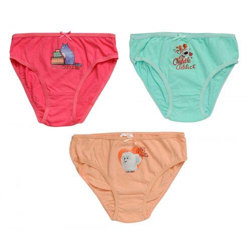 Universal onderbroeken katoen roze/oranje/blauw 3 stuks mt 6 8