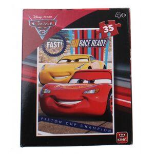 King legpuzzel Cars 3 35 stukjes