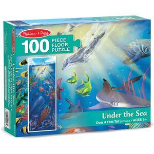 Melissa & Doug vloerpuzzel Onderwaterwereld 100 stukjes blauw