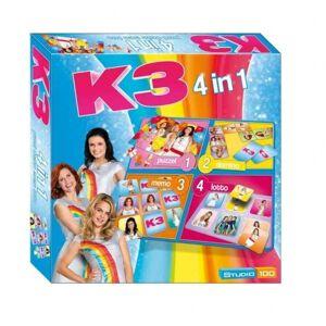 Studio 100 gezelschapsspel K3 4 in 1 130 delig (NL)