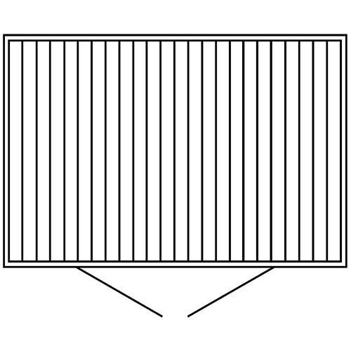 Container voor gevaarlijke stoffen voor de actieve opslag van ontvlambare stoffen, uitwendige h x b x d = 2385 x 3075 x 2075 mm