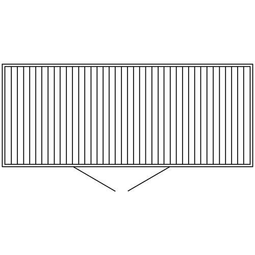Container voor gevaarlijke stoffen voor de actieve opslag van ontvlambare stoffen, uitwendige h x b x d = 2385 x 5075 x 2075 mm