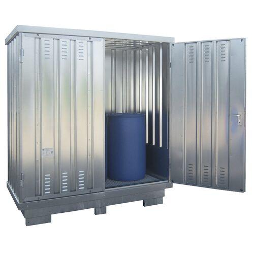 Container voor gevaarlijke stoffen voor de actieve opslag van ontvlambare stoffen, uitwendige h x b x d = 2385 x 2075 x 1075 mm