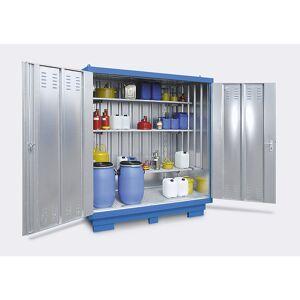 Gevaarlijke stoffen opslagcontainer voor waterverontreinigende vloeistoffen, uitwendige h x b x d = 2605 x 5075 x 4330 mm
