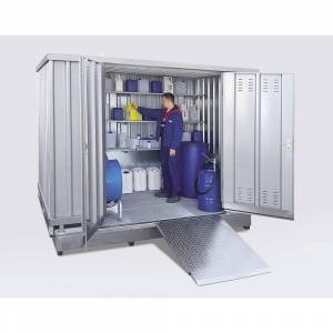 Gevaarlijke stoffen container voor de passieve opslag van ontvlambare stoffen, uitwendige h x b x d = 2790 x 5075 x 6560 mm