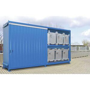 EUROKRAFTpro Stellingcontainer voor gevaarlijke stoffen, capaciteit 12 IBC/KTC van 1000 l EUROKRAFTpro