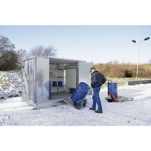 Koude geïsoleerde opslagcontainer voor gevaarlijke stoffen, uitwendige h x b x d = 2385 x 6075 x 2875 mm