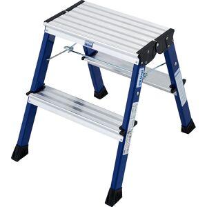 KRAUSE Inklapbaar aluminium trapje, met wielen KRAUSE