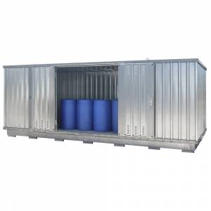 Container voor gevaarlijke stoffen voor de actieve opslag van ontvlambare stoffen, uitwendige h x b x d = 2385 x 6075 x 2875 mm