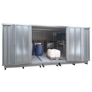 Container voor gevaarlijke stoffen voor de actieve opslag van ontvlambare stoffen, uitwendige h x b x d = 2605 x 5075 x 4330 mm