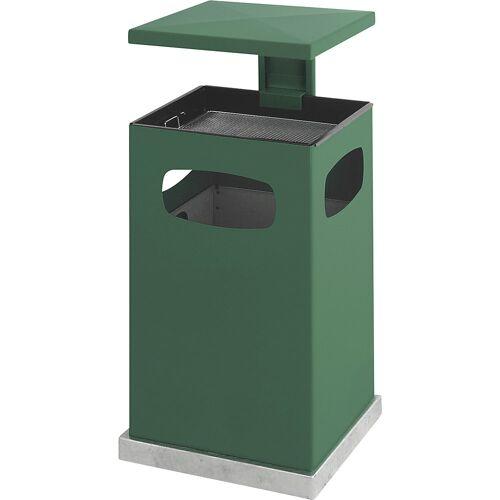 Afvalbak voor buiten, met asbakinzet en beschermkap, inhoud 72 l, b x h x d = 500 x 955 x 500 mm