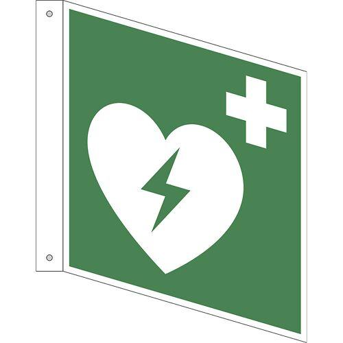 Reddingsbord, geautomatiseerde externe defibrillator, VE = 10 stuks