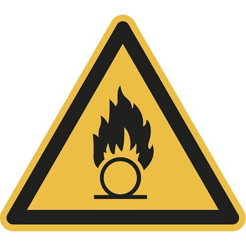 Waarschuwingsbord, waarschuwing voor brandbare stoffen, VE = 10 stuks