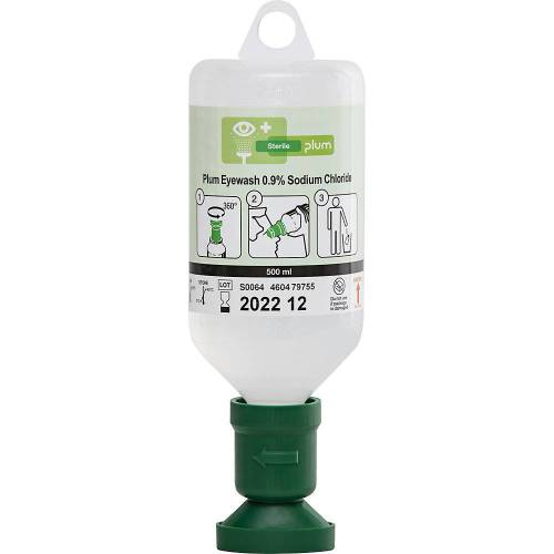 Oogspoelfles, met steriele natriumchloride-oplossing