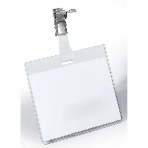 DURABLE Naamborden met clipbevestiging, h x b = 60 x 90 mm, tas gesloten DURABLE